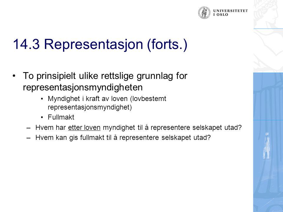 14.3 Representasjon (forts.)