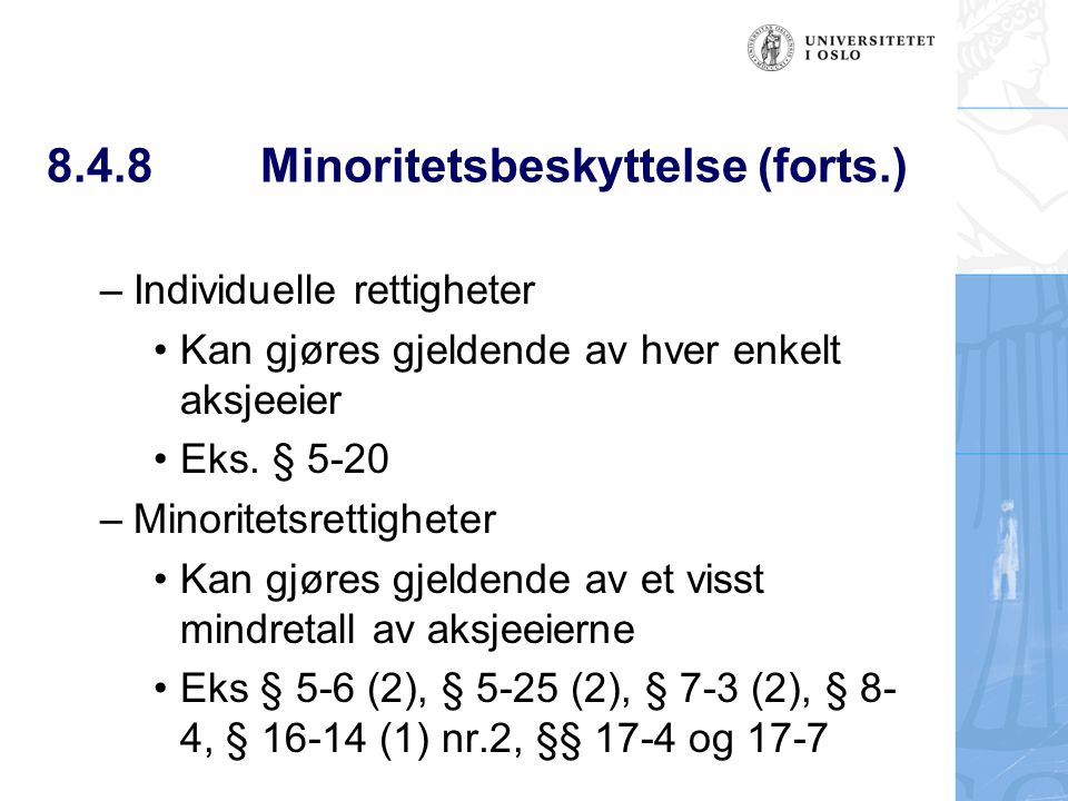 8.4.8 Minoritetsbeskyttelse (forts.)