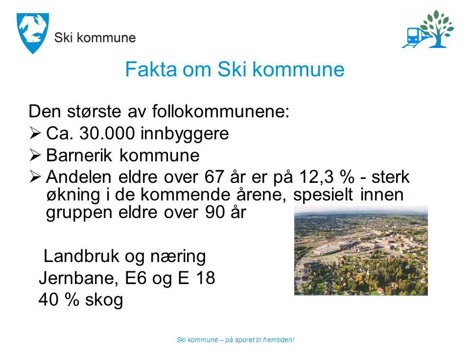 Fakta om Ski kommune Den største av follokommunene: