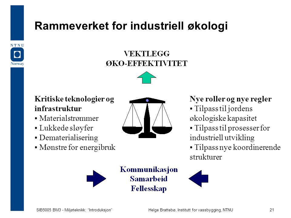 Rammeverket for industriell økologi