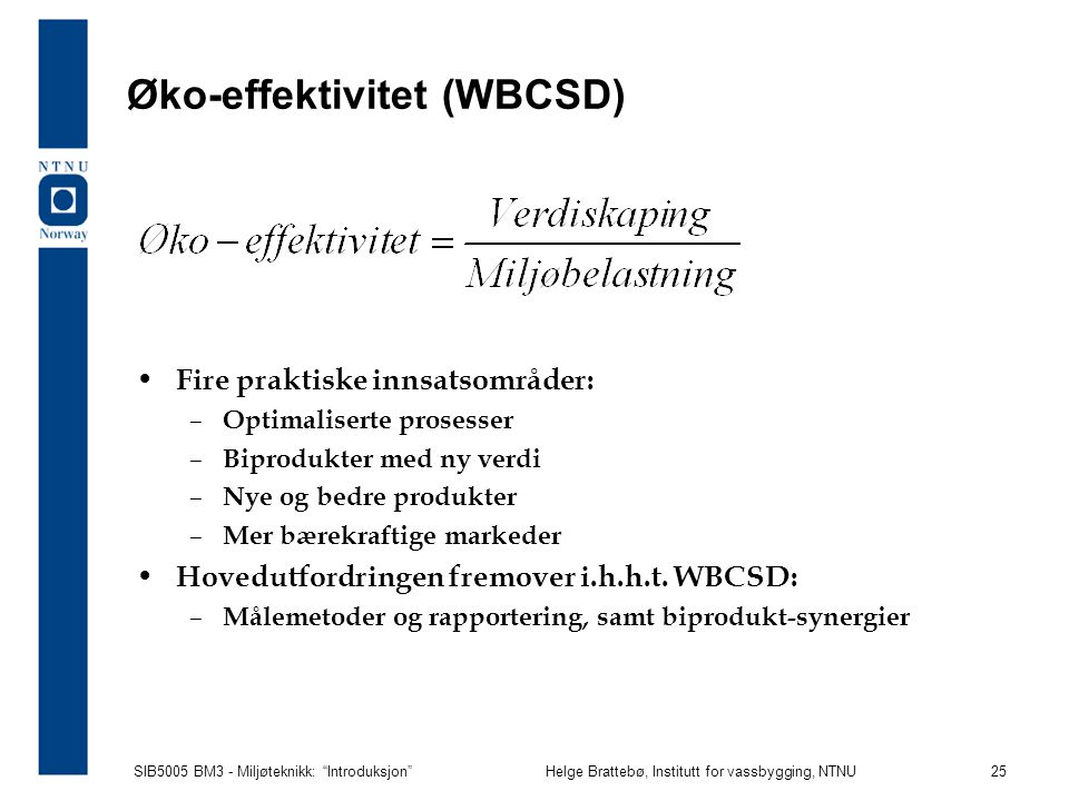 Øko-effektivitet (WBCSD)