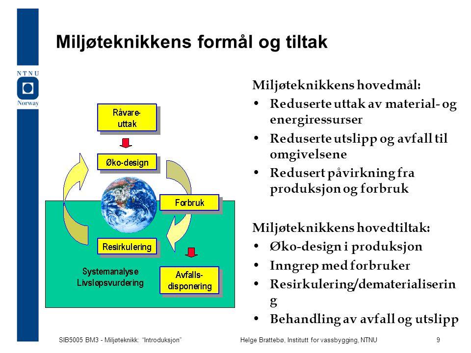 Miljøteknikkens formål og tiltak