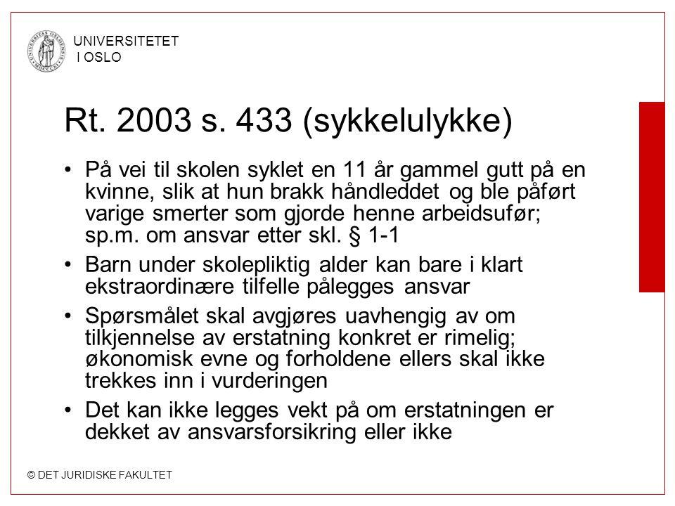 Rt. 2003 s. 433 (sykkelulykke)