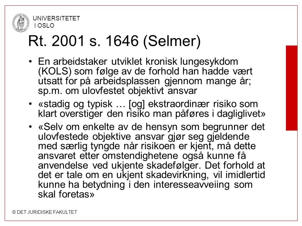 Rt. 2001 s. 1646 (Selmer)