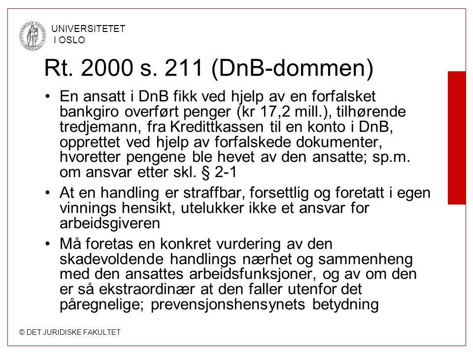 Rt. 2000 s. 211 (DnB-dommen)