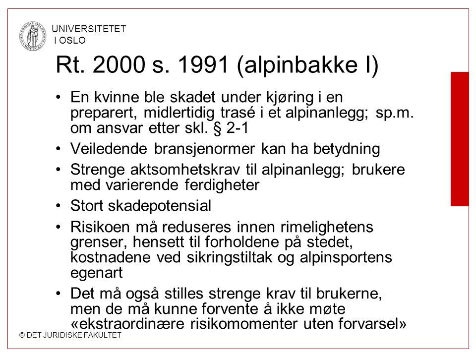 Rt. 2000 s. 1991 (alpinbakke I)