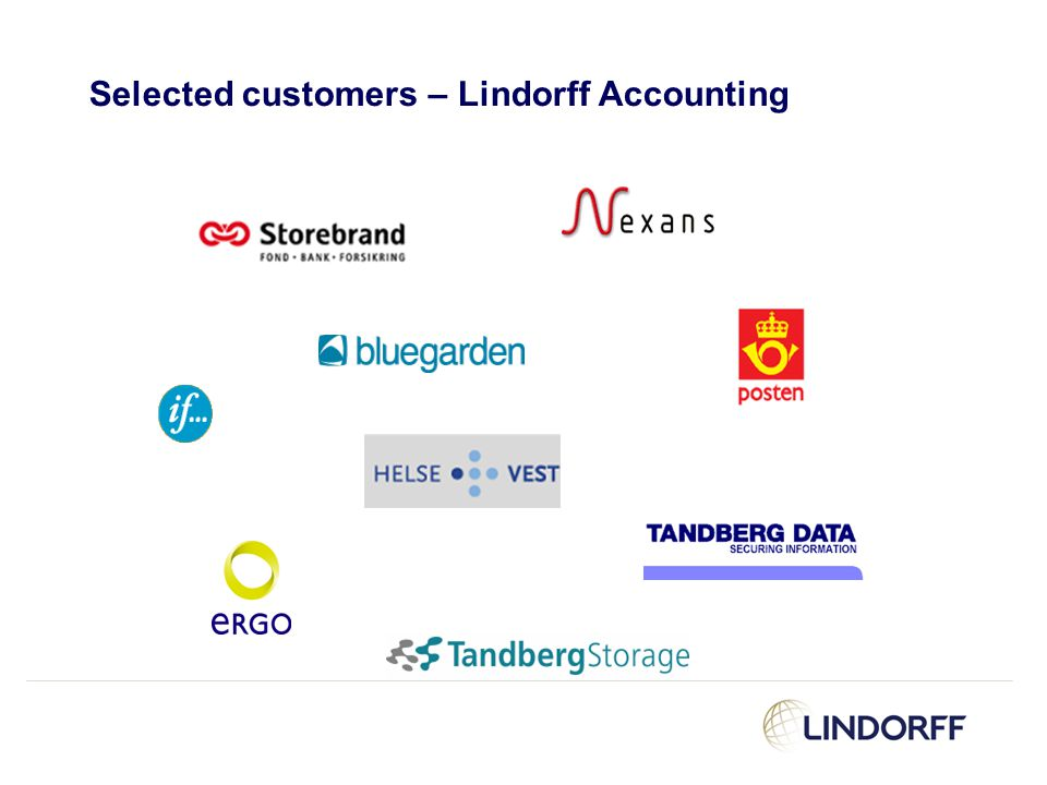 Selected customers – Lindorff Accounting