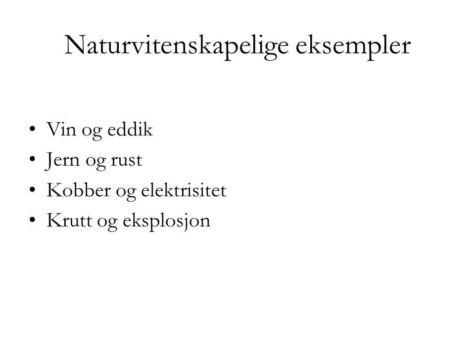 Naturvitenskapelige eksempler