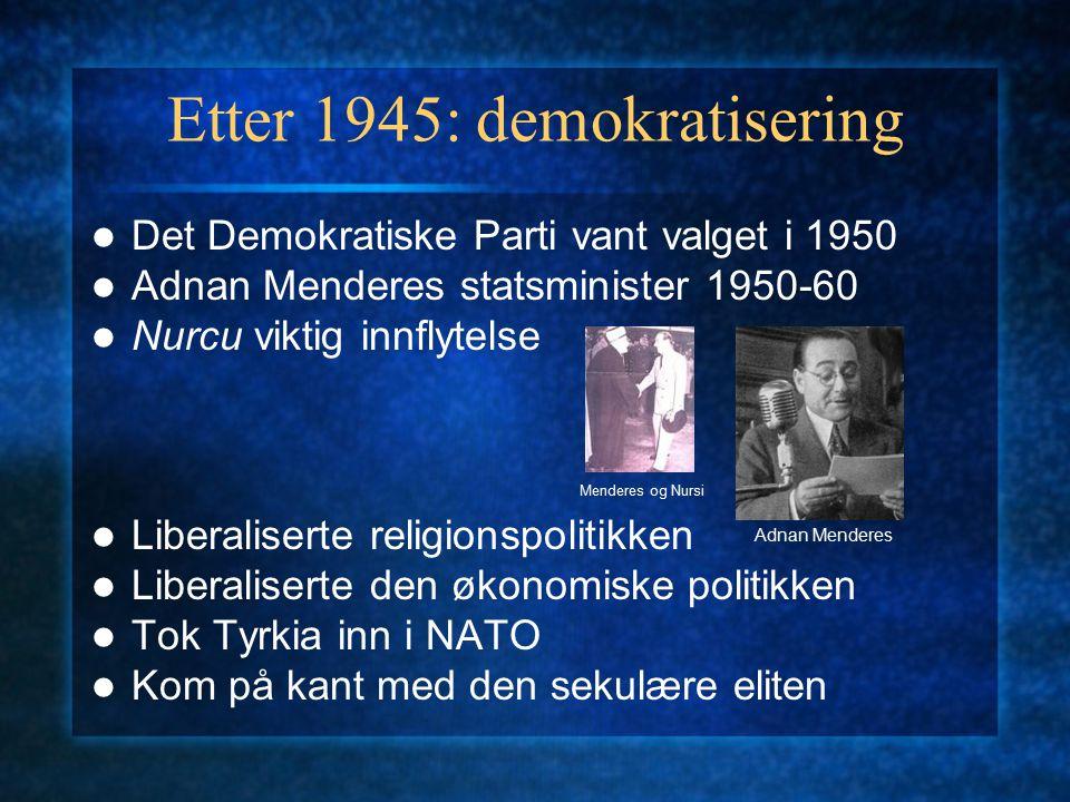 Etter 1945: demokratisering