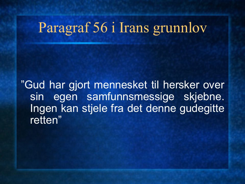 Paragraf 56 i Irans grunnlov