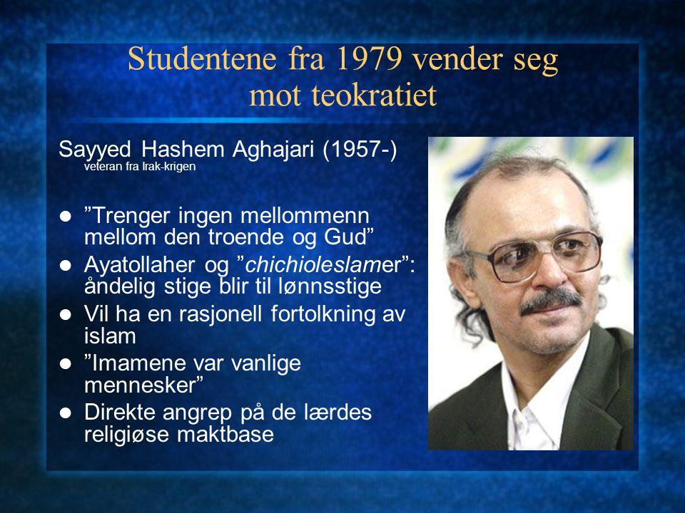 Studentene fra 1979 vender seg mot teokratiet