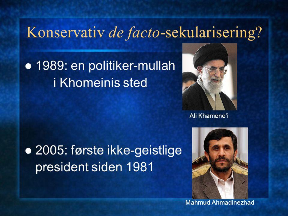 Konservativ de facto-sekularisering
