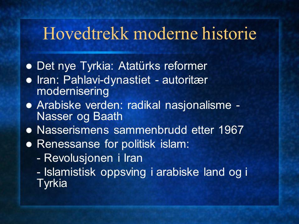 Hovedtrekk moderne historie