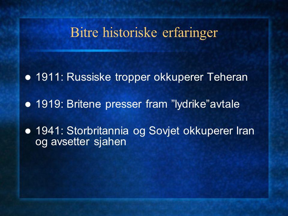 Bitre historiske erfaringer