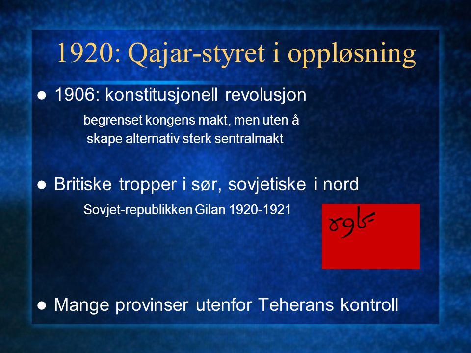 1920: Qajar-styret i oppløsning