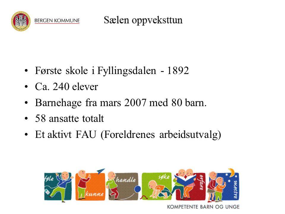 Første skole i Fyllingsdalen - 1892
