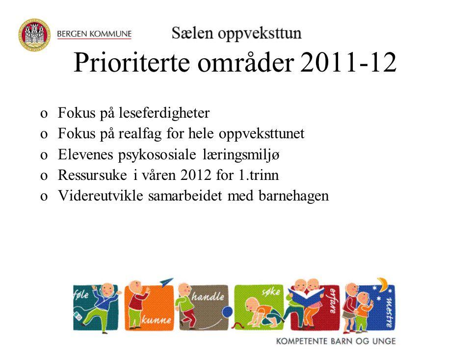 Prioriterte områder 2011-12 Fokus på leseferdigheter