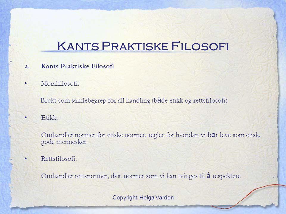 Kants Praktiske Filosofi