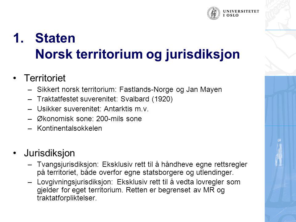 Staten Norsk territorium og jurisdiksjon