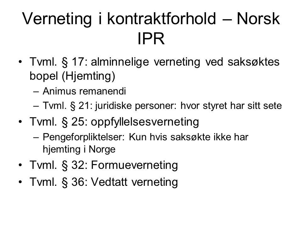 Verneting i kontraktforhold – Norsk IPR
