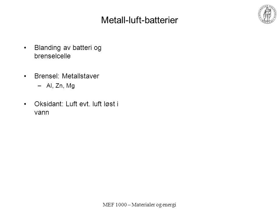 Metall-luft-batterier