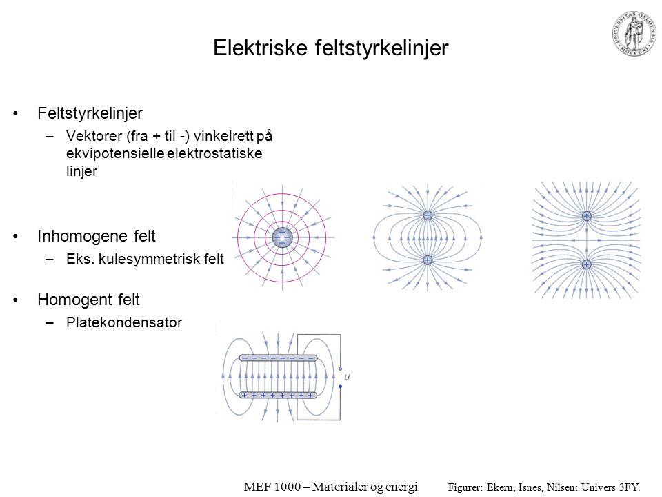 Elektriske feltstyrkelinjer