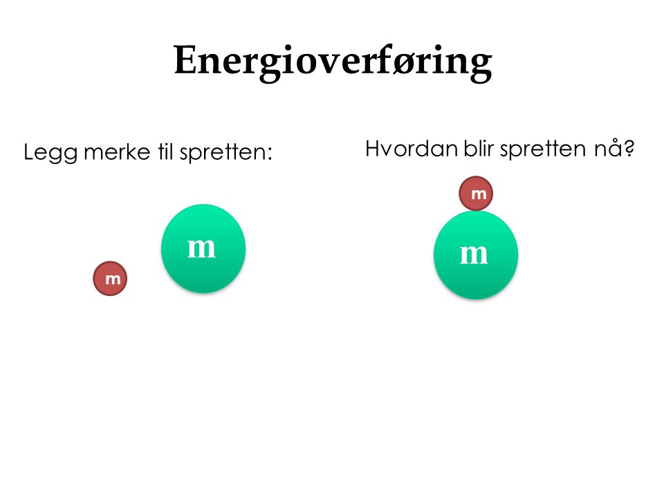 Energioverføring m m Hvordan blir spretten nå