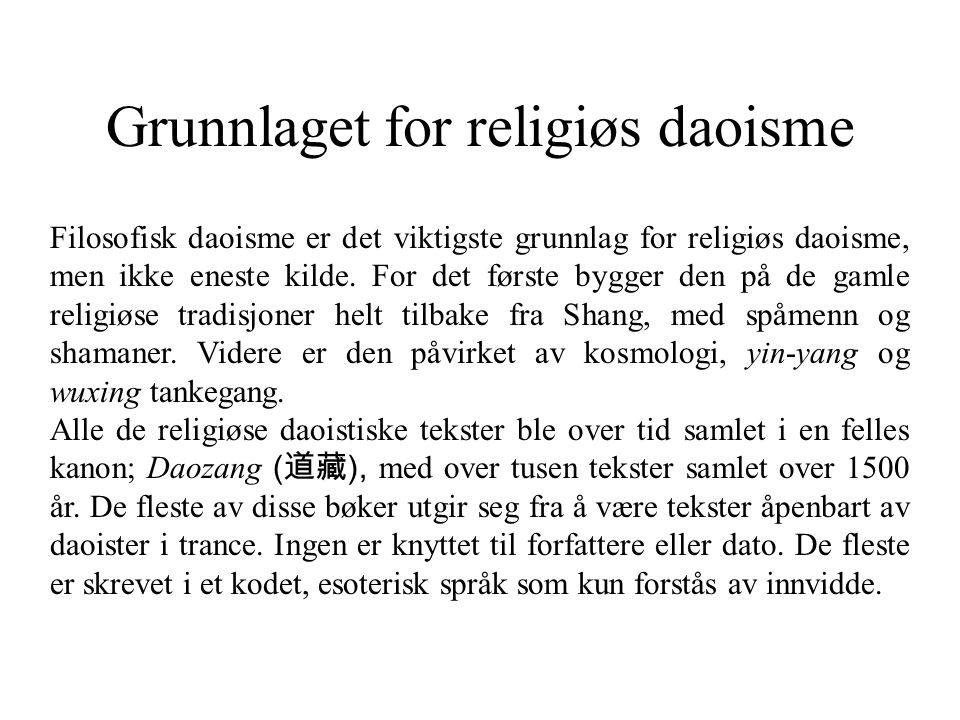 Grunnlaget for religiøs daoisme