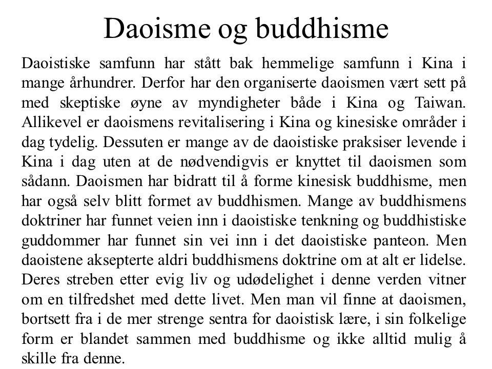 Daoisme og buddhisme