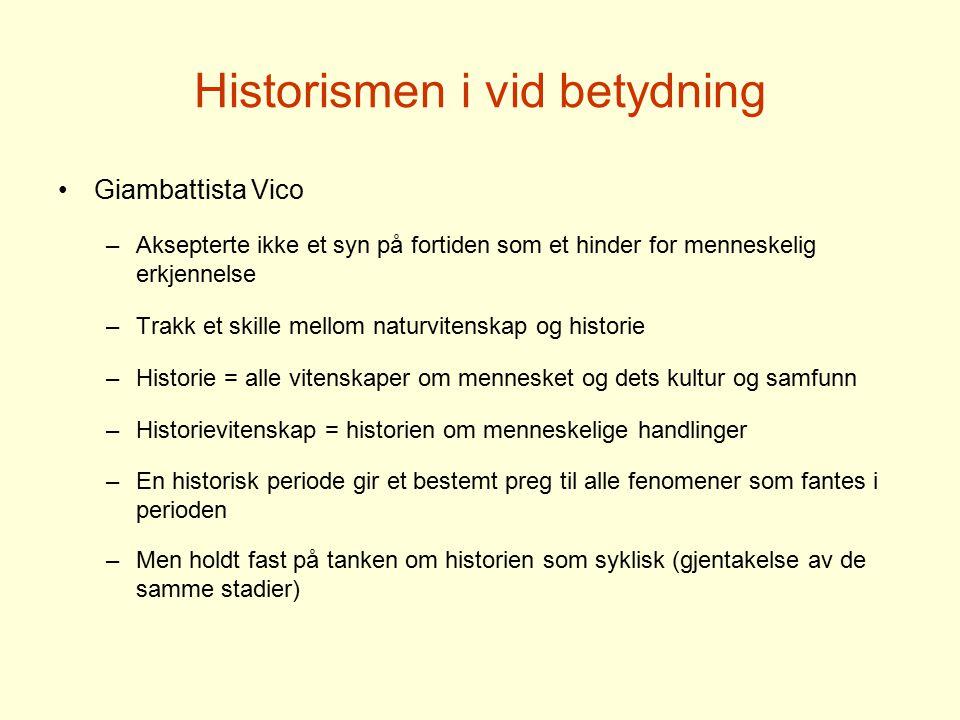 Historismen i vid betydning