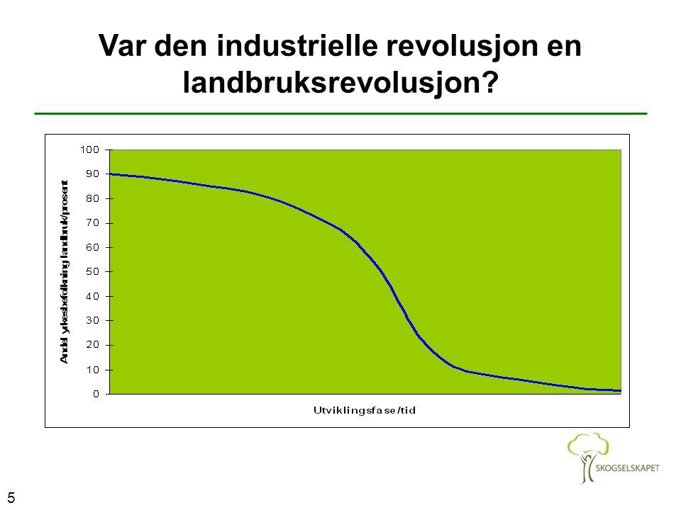 Var den industrielle revolusjon en landbruksrevolusjon