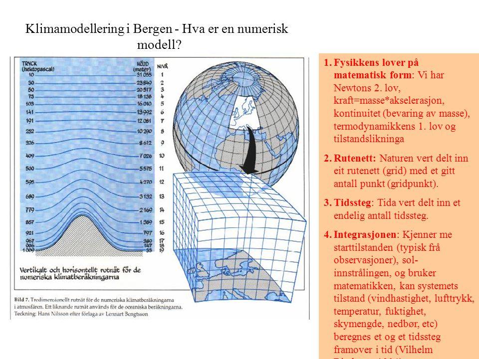 Klimamodellering i Bergen - Hva er en numerisk modell