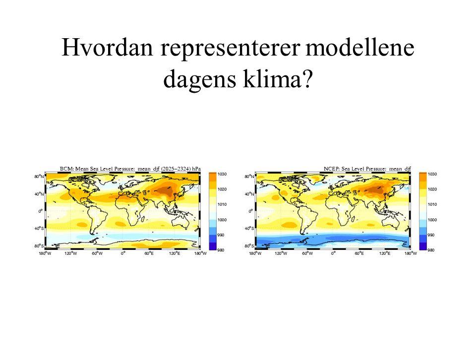 Hvordan representerer modellene dagens klima