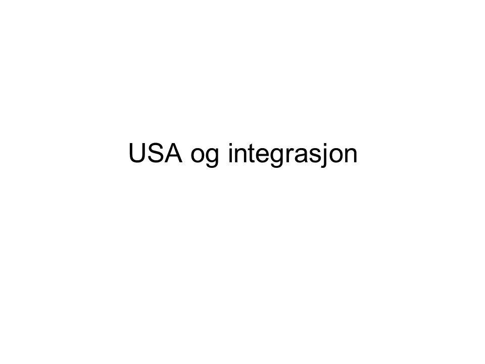 USA og integrasjon