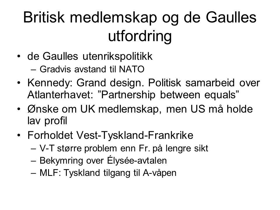 Britisk medlemskap og de Gaulles utfordring