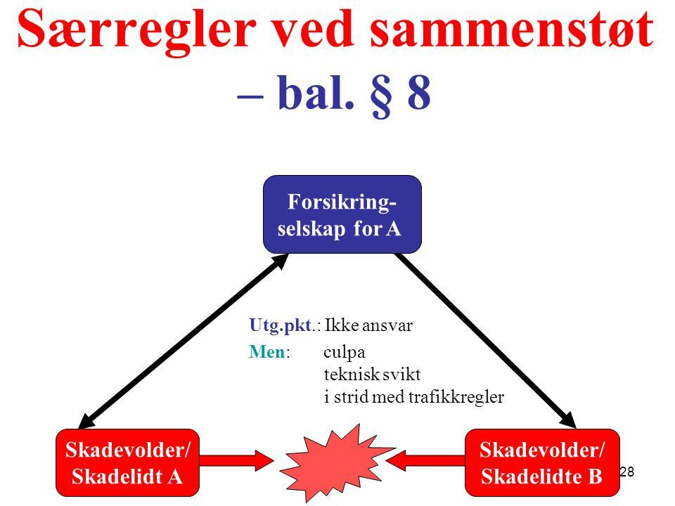 Særregler ved sammenstøt – bal. § 8