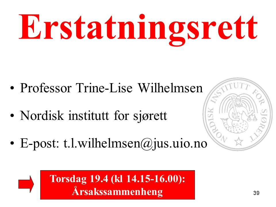 Torsdag 19.4 (kl 14.15-16.00): Årsakssammenheng