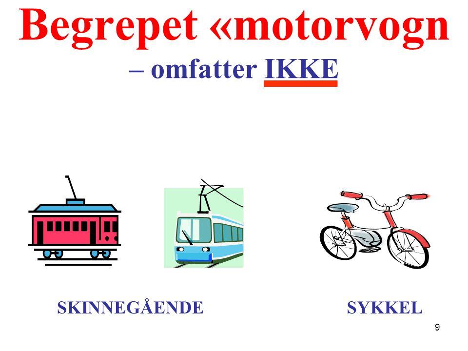 Begrepet «motorvogn – omfatter IKKE