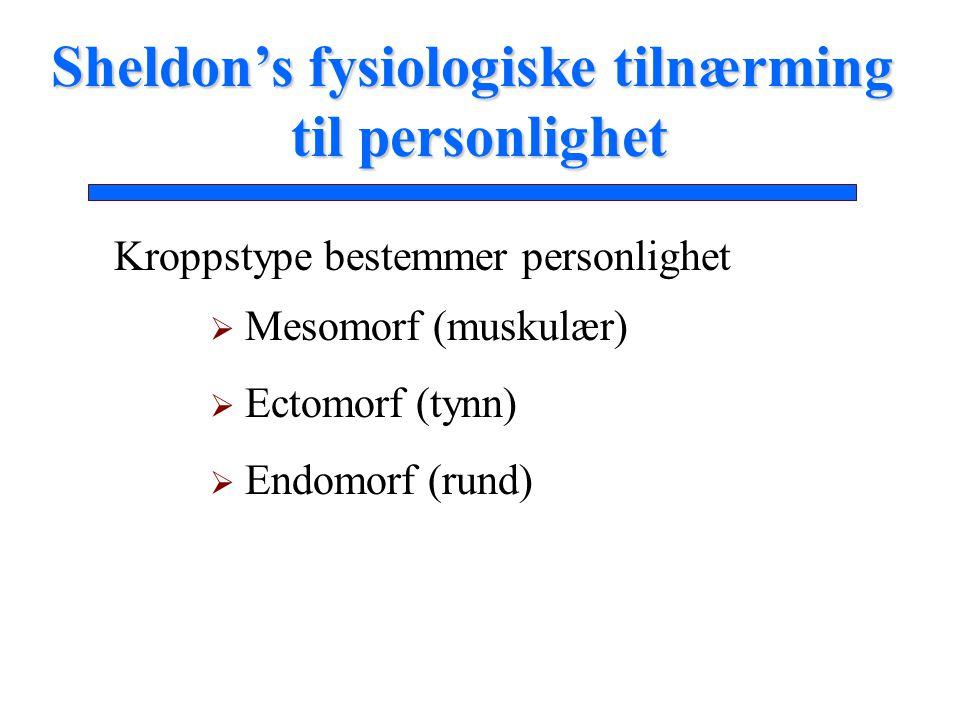 Sheldon's fysiologiske tilnærming