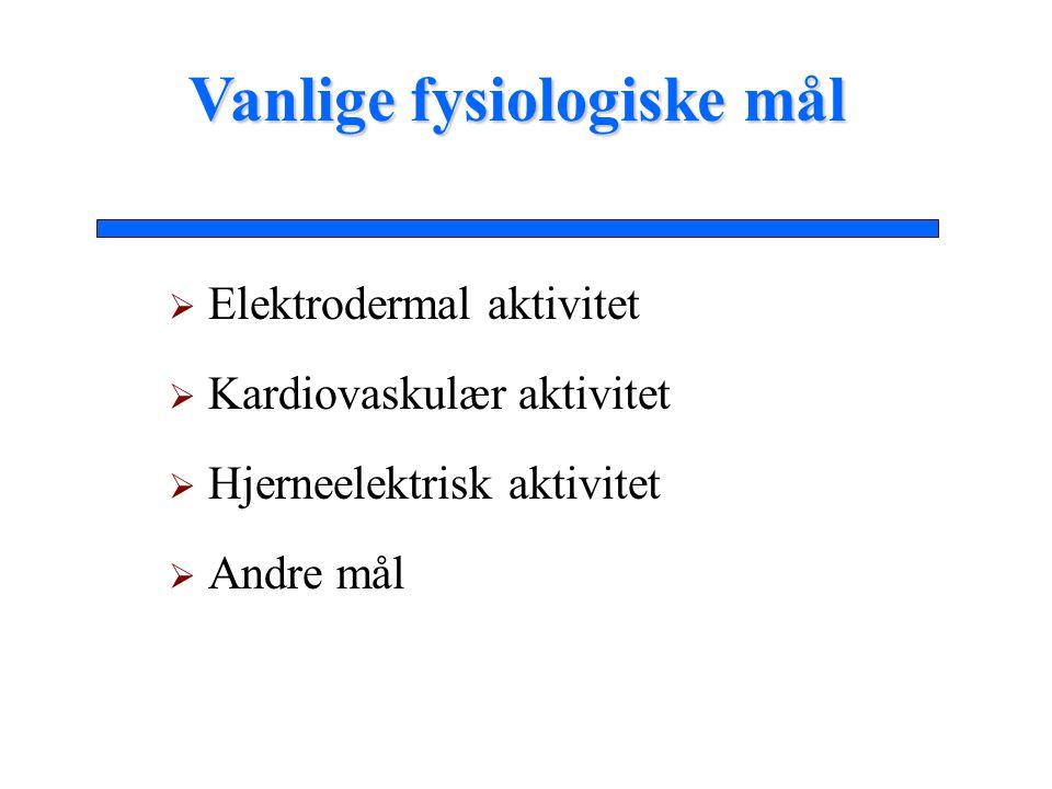 Vanlige fysiologiske mål