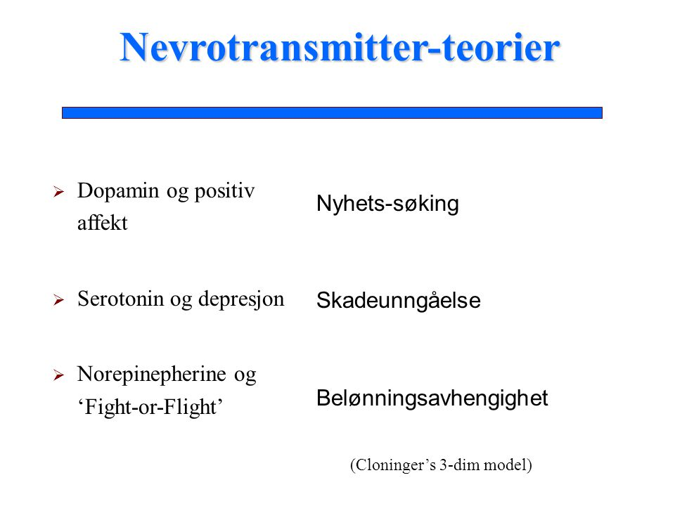 Nevrotransmitter-teorier