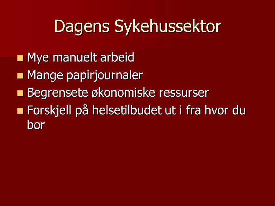 Dagens Sykehussektor Mye manuelt arbeid Mange papirjournaler