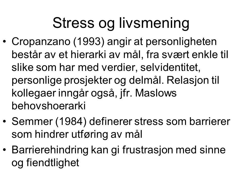 Stress og livsmening