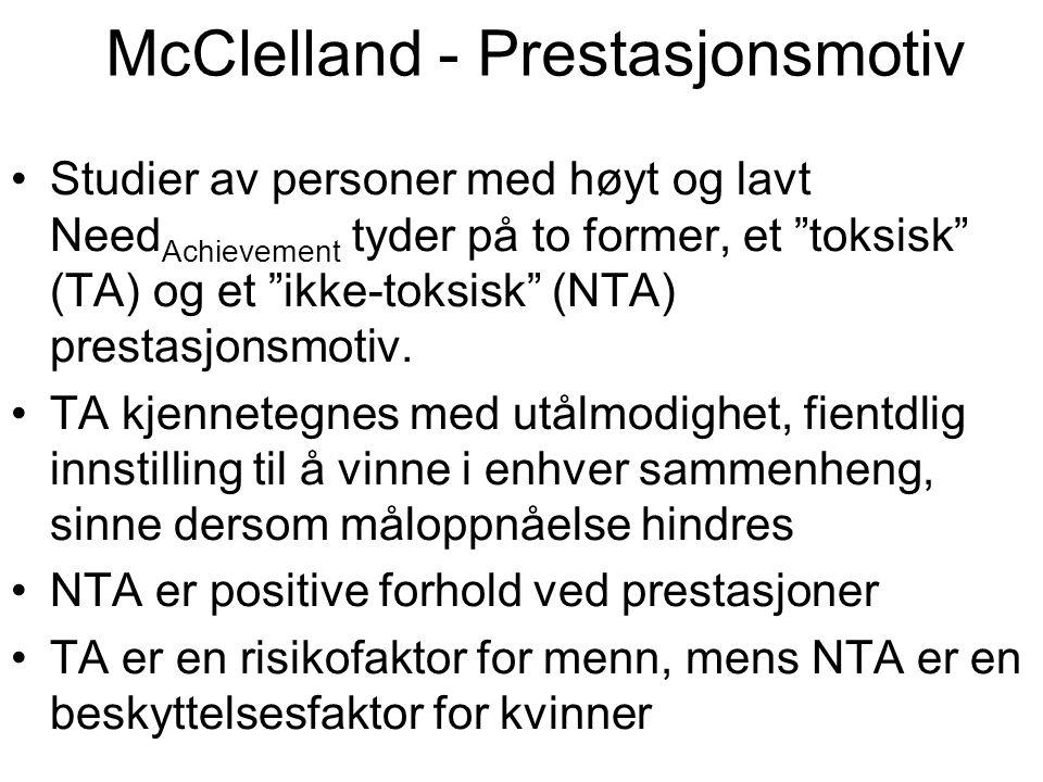 McClelland - Prestasjonsmotiv