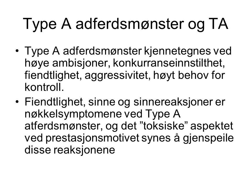 Type A adferdsmønster og TA
