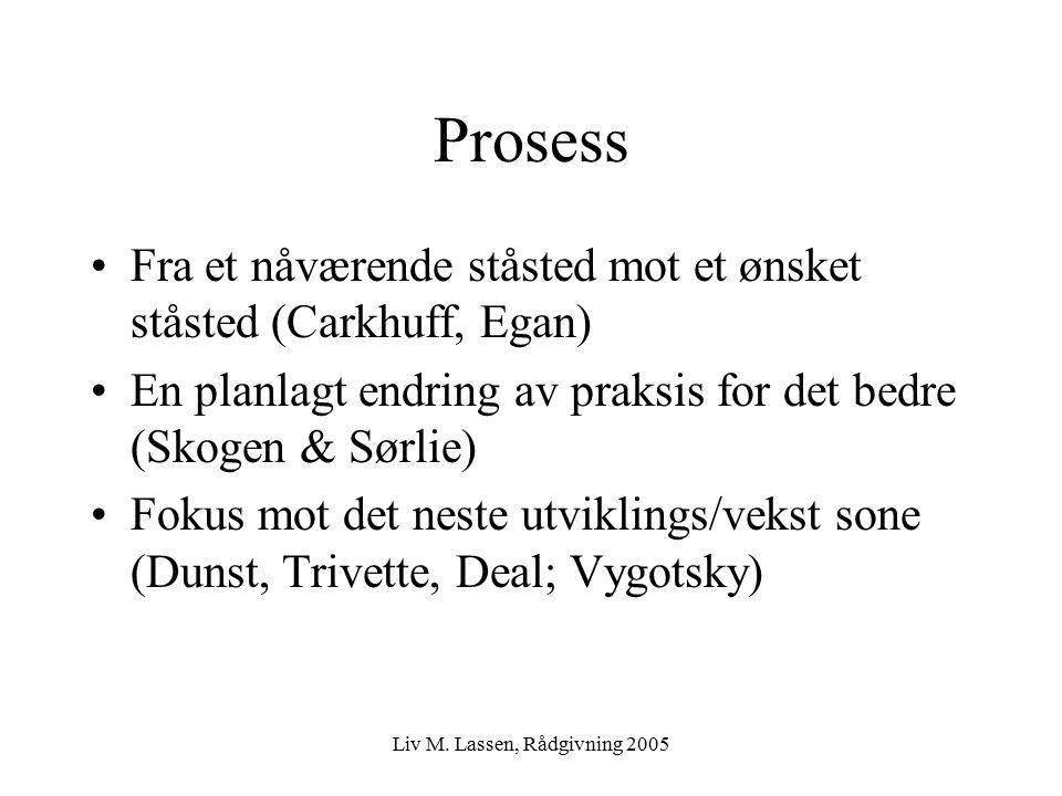 Liv M. Lassen, Rådgivning 2005