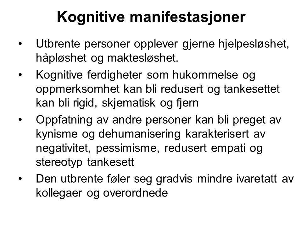 Kognitive manifestasjoner
