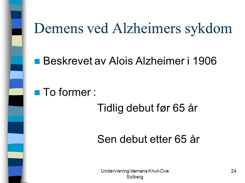 Demens ved Alzheimers sykdom