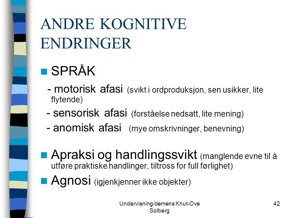 ANDRE KOGNITIVE ENDRINGER