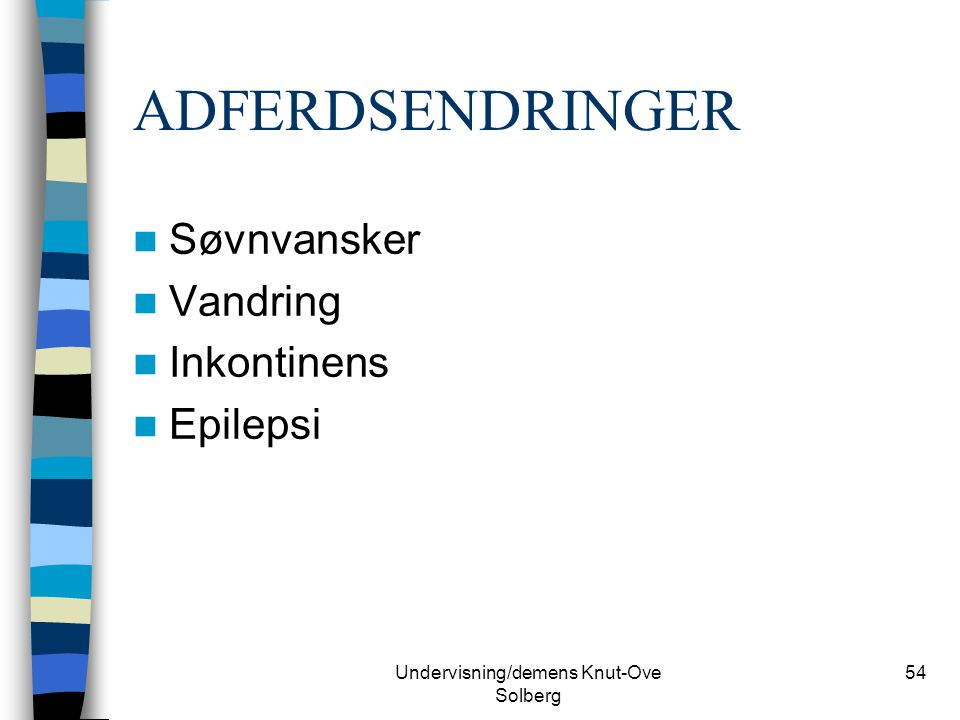 Undervisning/demens Knut-Ove Solberg